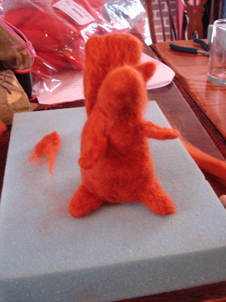 Felted squirrell 026