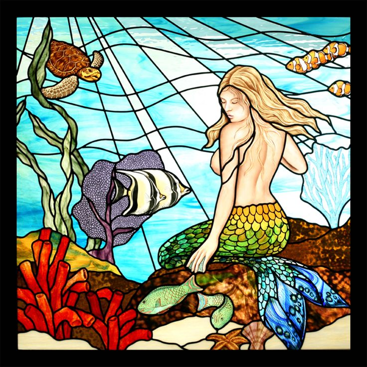 Mer with fish