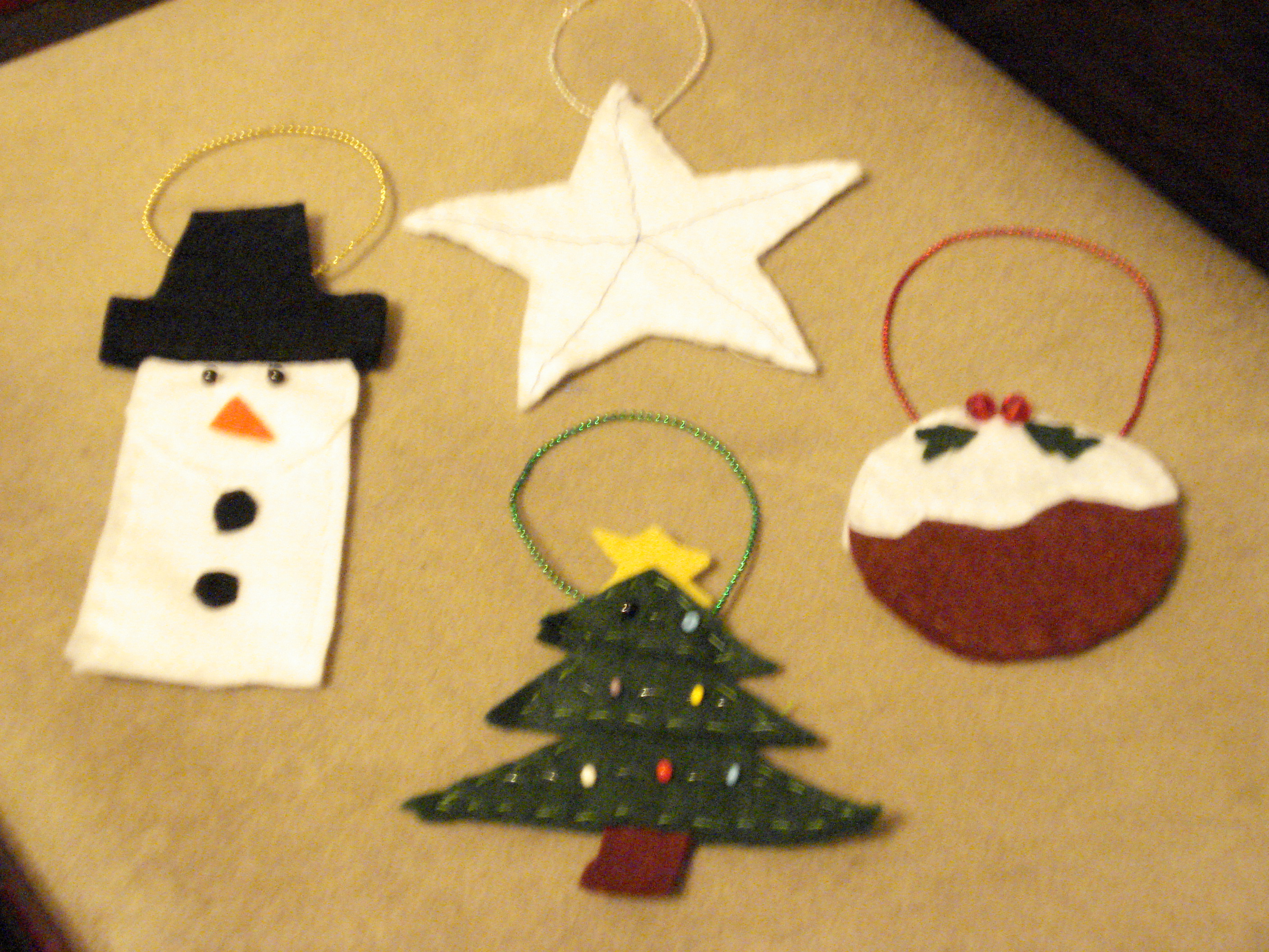 Things to make some reflections on my first bits of for How to make christmas decorations to sell