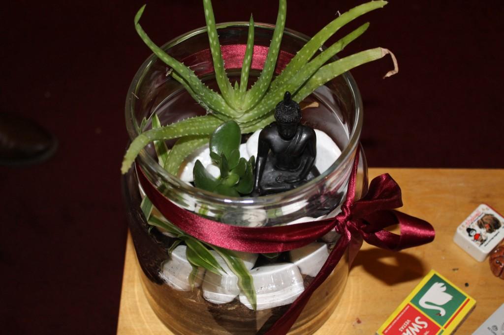 Terrarium with ribbon